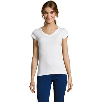 Textil Mulher T-Shirt mangas curtas Sols MOON COLORS GIRL Blanco