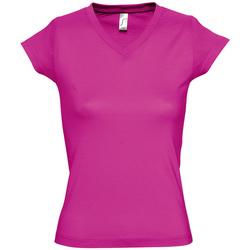 Textil Mulher T-Shirt mangas curtas Sols MOON COLORS GIRL Violeta