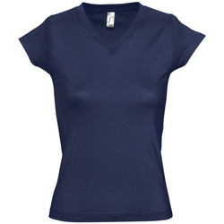 Textil Mulher T-Shirt mangas curtas Sols MOON COLORS GIRL Azul