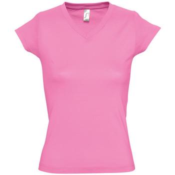 Textil Mulher T-Shirt mangas curtas Sols MOON COLORS GIRL Rosa