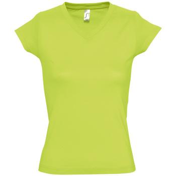 Textil Mulher T-Shirt mangas curtas Sols MOON COLORS GIRL Verde