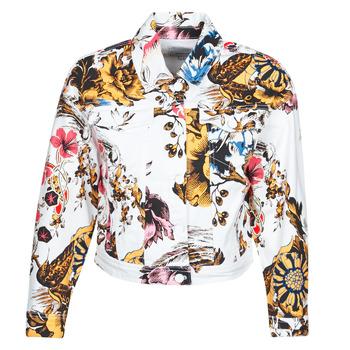 Textil Mulher casacos de ganga Desigual FANTASY Multicolor