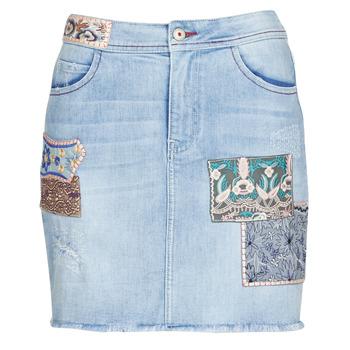 Textil Mulher Saias Desigual PATTY Azul