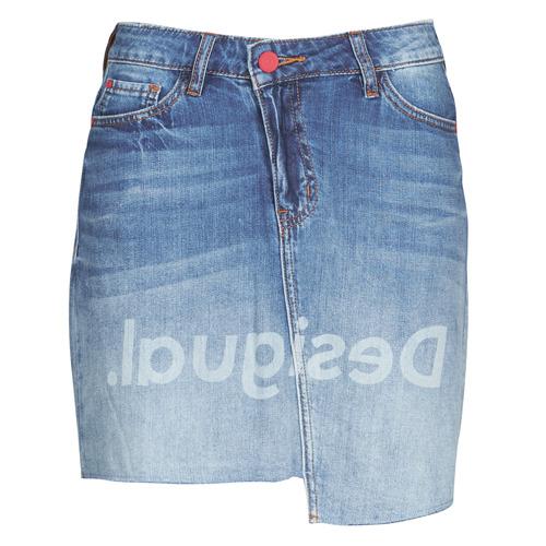 Textil Mulher Saias Desigual LOG Azul