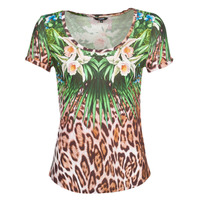 Textil Mulher T-Shirt mangas curtas Desigual JUNGLE Multicolor