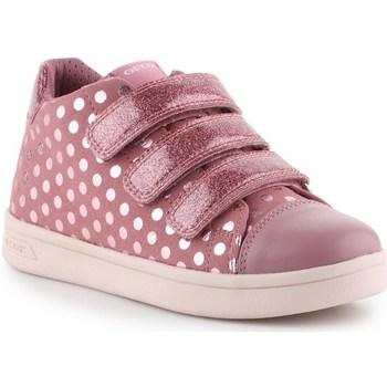 Sapatos Rapariga Sapatilhas Geox J Djrock GD Cor-de-rosa