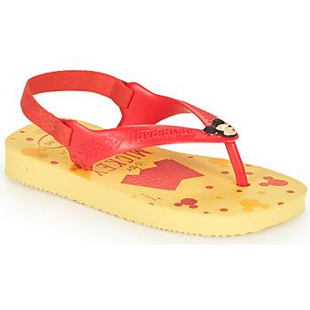 Sapatos Rapaz Chinelos Havaianas BABY DISNEY CLASSICS II Amarelo / Vermelho