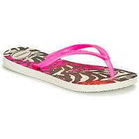 Sapatos Rapariga Chinelos Havaianas SLIM ANIMALS Rosa / Preto