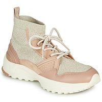 Sapatos Mulher Sapatilhas de cano-alto Coach C245 RUNNER Rosa / Cru / Prata