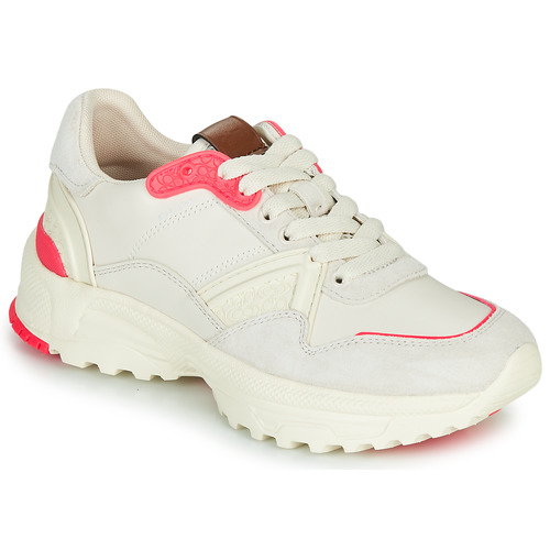 Sapatos Mulher Sapatilhas Coach C143 RUNNER Branco / Rosa