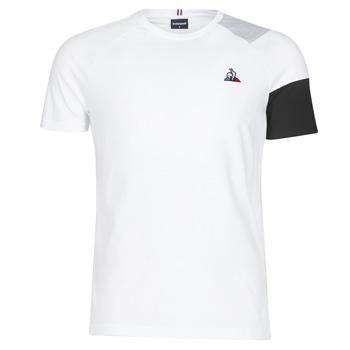 Textil Homem T-Shirt mangas curtas Le Coq Sportif ESS Tee SS N°10 M Preto / Cinza