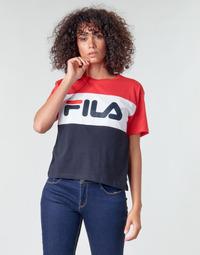 Textil Mulher T-Shirt mangas curtas Fila ALLISON Marinho / Vermelho / Branco