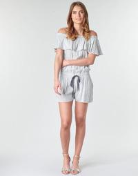 Textil Mulher Macacões/ Jardineiras Deeluxe FAYME Branco / Azul