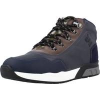 Sapatos Rapaz Sapatilhas de cano-alto Garvalin 191421 Azul