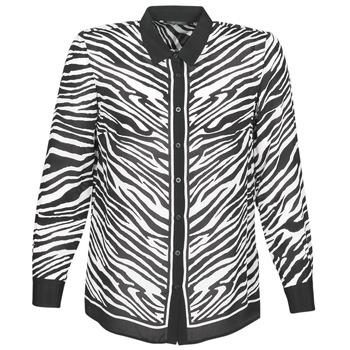 Textil Mulher camisas Ikks BQ12105-03 Preto / Branco