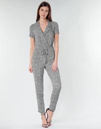 Textil Mulher Macacões/ Jardineiras Ikks BQ32045-03 Preto / Branco