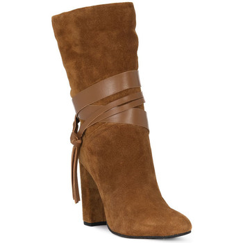 Sapatos Mulher Botins Café Noir CAFE NOIR TRONCHETTO NAPPINA Marrone