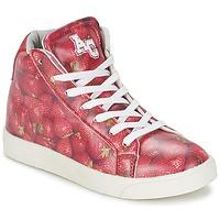 Sapatos Rapariga Sapatilhas de cano-alto American College RED Vermelho