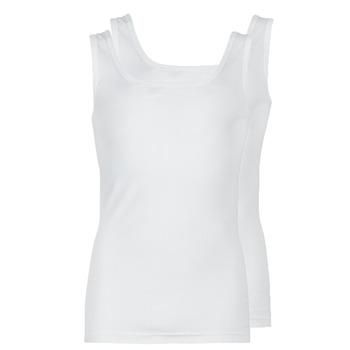 Textil Homem Tops sem mangas Athena COTON BIO Branco