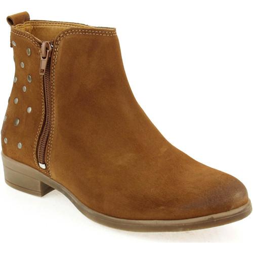 Sapatos Mulher Botas baixas Walkwell U Ankle boots CASUAL Camel