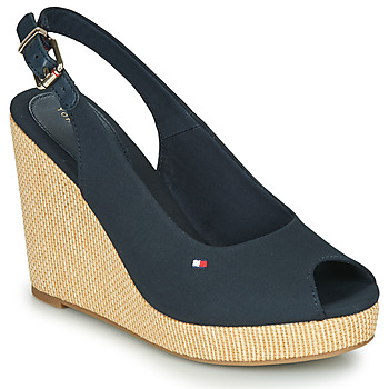 Sapatos Mulher Sandálias Tommy Hilfiger ICONIC ELENA SLING BACK WEDGE Navy