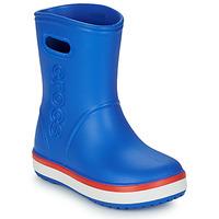 Sapatos Criança Botas de borracha Crocs CROCBAND RAIN BOOT K Azul / Vermelho