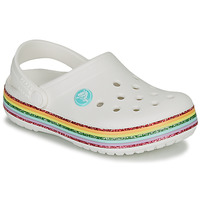 Sapatos Rapariga Tamancos Crocs CROCBAND RAINBOW GLITTER CLG K Branco