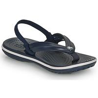 Sapatos Criança Chinelos Crocs CROCBAND STRAP FLIP K Marinho