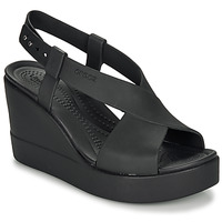 Sapatos Mulher Sandálias Crocs CROCS BROOKLYN HIGH WEDGE W Preto