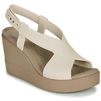 Sapatos Mulher Sandálias Crocs CROCS BROOKLYN HIGH WEDGE W Bege