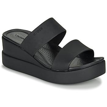 Sapatos Mulher Sandálias Crocs CROCS BROOKLYN MID WEDGE W Preto