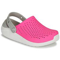 Sapatos Rapariga Tamancos Crocs LITERIDE CLOG K Rosa / Branco