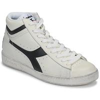 Sapatos Sapatilhas de cano-alto Diadora GAME L HIGH WAXED Branco / Preto