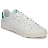 Sapatos Homem Sapatilhas Diadora MELODY LEATHER DIRTY Branco / Verde