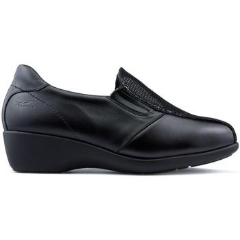 Sapatos Mulher Mocassins Dtorres Mocassins  TURIM LARGURA ESPECIAL PRETO