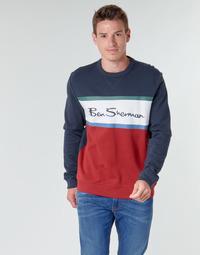 Textil Homem Sweats Ben Sherman COLOUR BLOCKED LOGO SWEAT Marinho / Vermelho