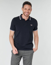 Textil Homem Polos mangas curta Fred Perry TWIN TIPPED FRED PERRY SHIRT Azul / Branco