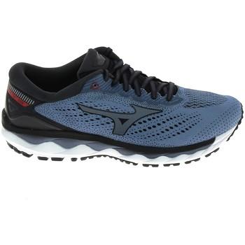 Sapatos Homem Sapatilhas de corrida Mizuno Wave Sky 3 Stone Bleu Azul