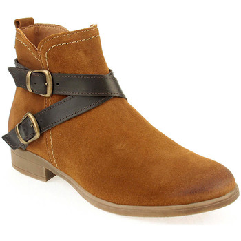 Sapatos Mulher Botins Walkwell U Ankle boots CASUAL Camel