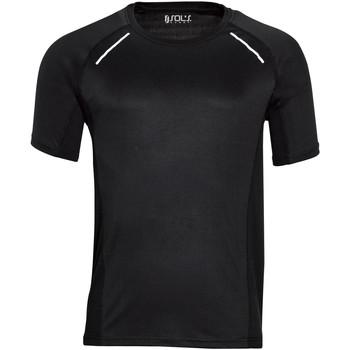Textil Homem T-Shirt mangas curtas Sols SYDNEY MEN SPORT Negro
