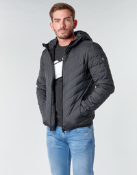 Textil Homem Quispos Emporio Armani EA7 TRAIN CORE SHIELD M DOWN LIGHT HOODIE JACKET Preto