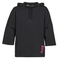 Textil Mulher Sweats Emporio Armani EA7 TRAIN GRAPHIC SERIES W HOODIE CN GRAPHIC INSERT Preto / Florido / Multicolor