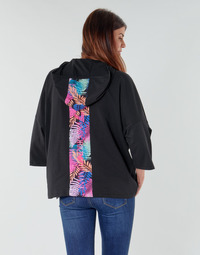 Textil Mulher Sweats Emporio Armani EA7 TRAIN GRAPHIC SERIES W HOODIE CN GRAPHIC INSERT Preto / Florido / Multicolor