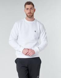 Textil Homem Sweats Calvin Klein Jeans CK ESSENTIAL REG CN Branco
