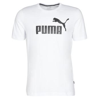 Textil Homem T-Shirt mangas curtas Puma ESSENTIAL TEE Branco