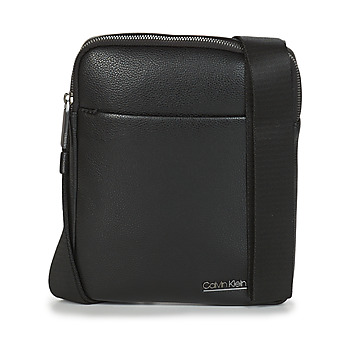 Malas Homem Pouch / Clutch Calvin Klein Jeans CK BOMBE' FLAT CROSSOVER Preto