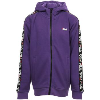 Textil Rapariga Sweats Fila Adara Tape Zip Jacket Kids Violeta