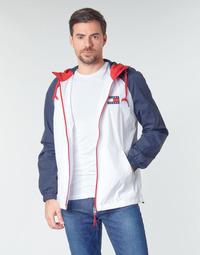 Textil Homem Jaquetas Tommy Jeans TJM COLORBLOCK ZIPTHROUGH JCKT Branco / Azul / Vermelho