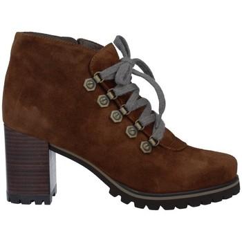 Sapatos Mulher Botas baixas Pedro Miralles 25840 Botines con Cordones de Mujer castanho