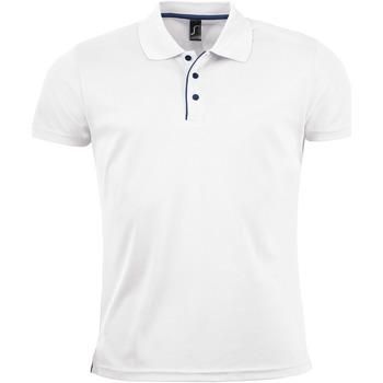 Textil Homem Polos mangas curta Sols PERFORMER MEN SPORT Blanco